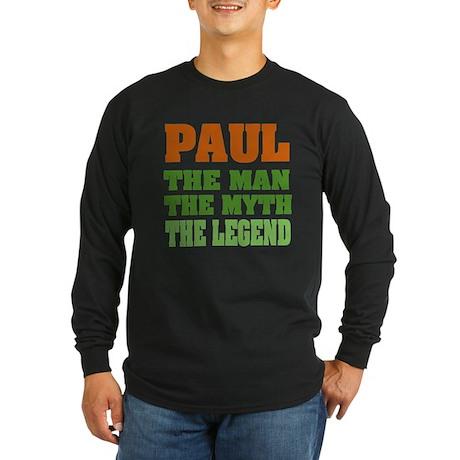 PAUL - The Legend Long Sleeve Dark T-Shirt
