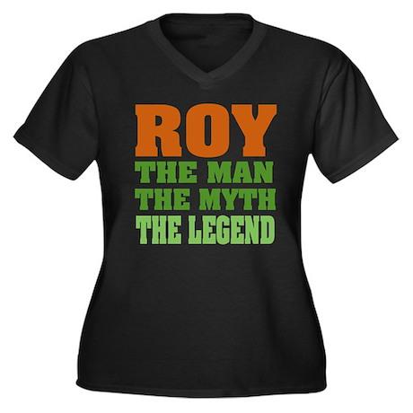 ROY - The Legend Women's Plus Size V-Neck Dark T-S