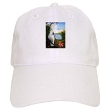 Cockatoo and Orchid Cap