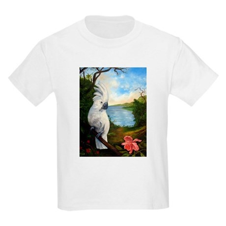 Cockatoo and Orchid Kids Light T-Shirt