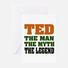 TED - The Legend Greeting Cards (Pk of 20)