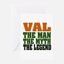 Val - The Legend Greeting Cards (Pk of 20)