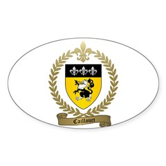 CAILLOUET Family Crest Oval Decal