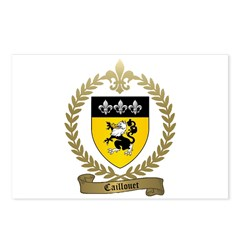 CAILLOUET Family Crest Postcards (Package of 8)