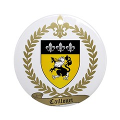 CAILLOUET Family Crest Ornament (Round)
