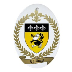 CAILLOUET Family Crest Oval Ornament