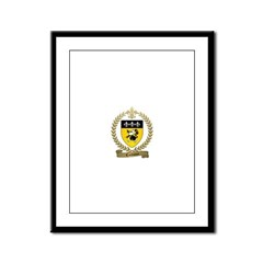 CAILLOUET Family Crest Framed Panel Print