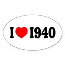 1940 Oval Decal