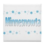 Minnesnowta Tile Coaster