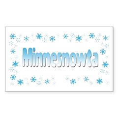 Minnesnowta Rectangle Sticker 10 pk)