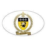 CAYOUETTE Family Crest Oval Sticker (10 pk)
