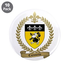 """CAYOUETTE Family Crest 3.5"""" Button (10 pack)"""