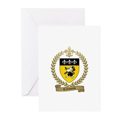 CAYOUETTE Family Crest Greeting Cards (Pk of 20)