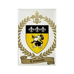 CAYOUETTE Family Crest Rectangle Magnet
