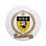 CAYOUETTE Family Crest Ornament (Round)