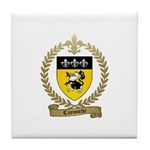 CAYOUETTE Family Crest Tile Coaster
