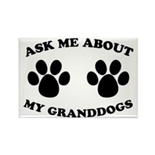 Ask About Granddogs Rectangle Magnet