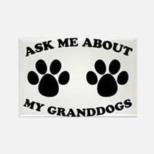 Ask About Granddogs Rectangle Magnet (10 pack)