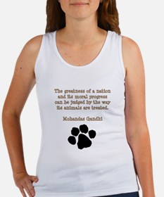 Gandhi Animal Quote Women's Tank Top