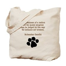 Gandhi Animal Quote Tote Bag