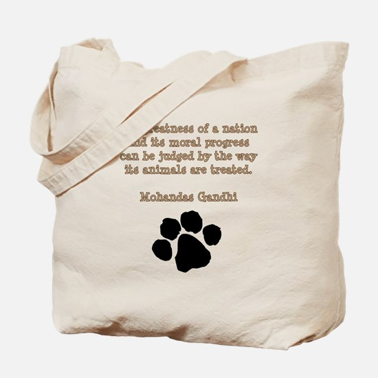 Gandhi Animal Quote Tote Bag