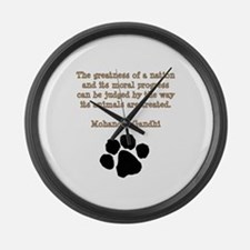 Gandhi Animal Quote Large Wall Clock