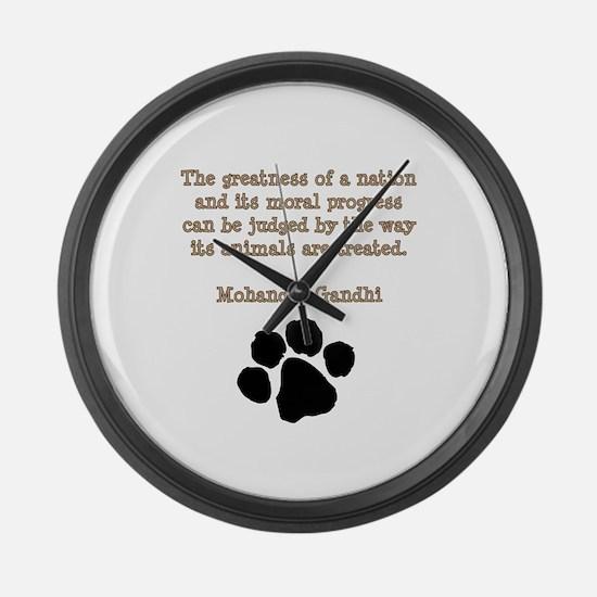 Gandhi Animal Quote Large Wall Clock