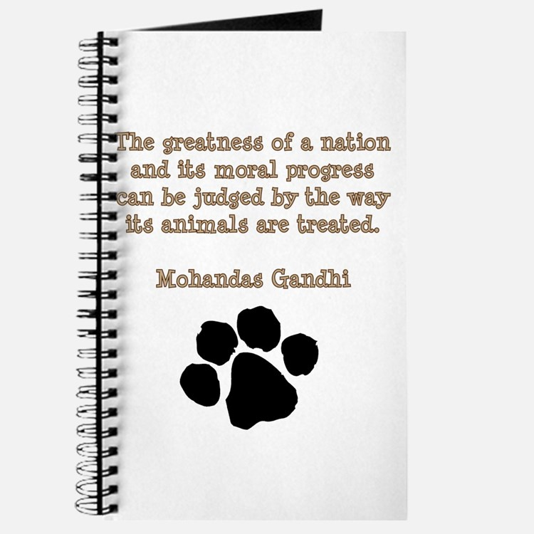 Gandhi Animal Quote Journal