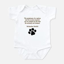 Gandhi Animal Quote Infant Bodysuit