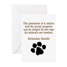 Gandhi Animal Quote Greeting Cards (Pk of 20)