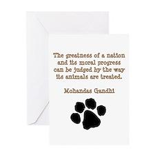 Gandhi Animal Quote Greeting Card
