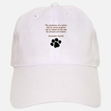 Gandhi Animal Quote Baseball Baseball Cap