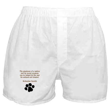 Gandhi Animal Quote Boxer Shorts