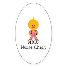 NICU Nurse Chick Oval Decal