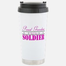 Proud Grandma of a Soldier Travel Mug