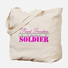 Proud Grandma of a Soldier Tote Bag