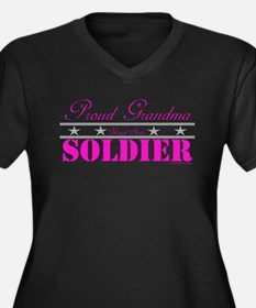 Proud Grandma of a Soldier Women's Plus Size V-Nec