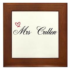 Mrs Cullen Framed Tile