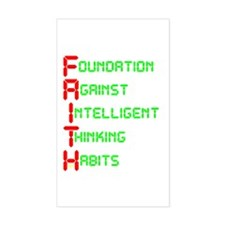 FAITH - Foundation Against In Rectangle Decal