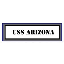 USS Arizona Bumper Sticker