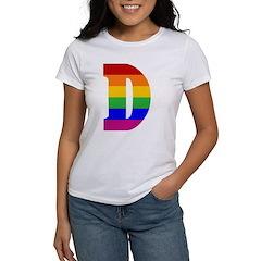 Rainbow Letter D Tee