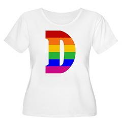 Rainbow Letter D T-Shirt