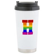 Rainbow Letter H Travel Mug