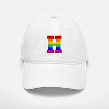 Rainbow Letter H Baseball Baseball Cap