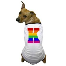 Rainbow Letter K Dog T-Shirt