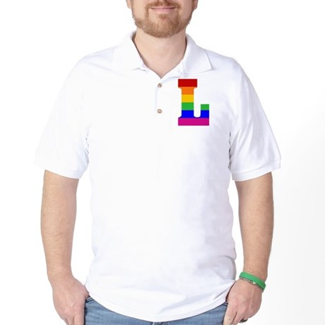 Rainbow Letter L Golf Shirt