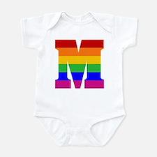 Rainbow Letter M Infant Bodysuit