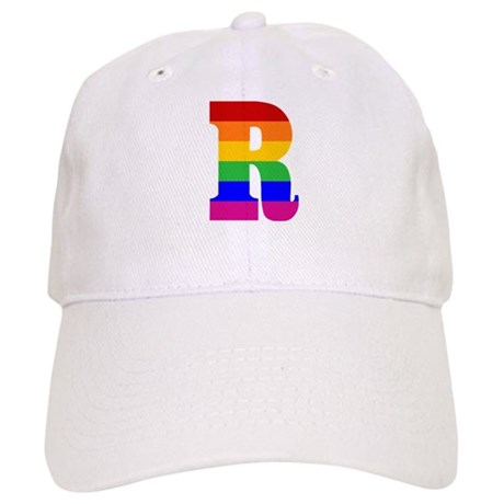 Rainbow Letter R Cap