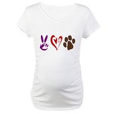 Peace, Love, Pets Symbols Shirt