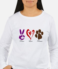Peace, Love, Rescue T-Shirt